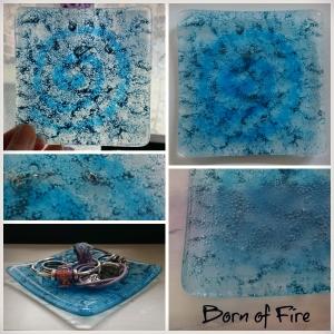 Blue Spiral Bubbles